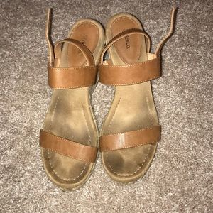 Style & Co Tan Wedges, 8.5